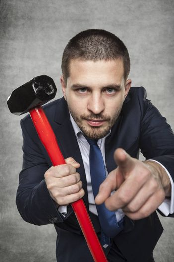 businessman chooses you to fight with crisis
