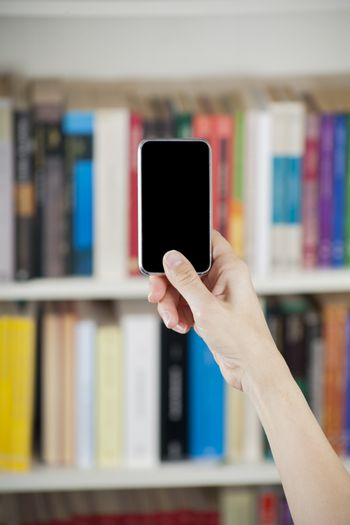 showing blank screen mobile over library