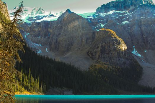 Turquoise water and mountains