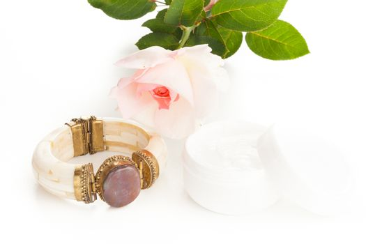 lotion and bracelet