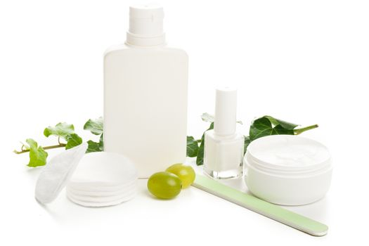 white beauty products