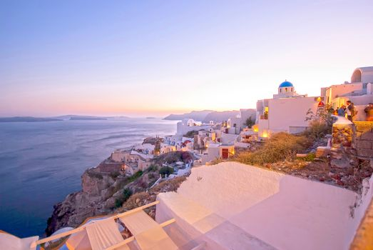 Oia Santorini Greece famous with beautiful romantic sunsets