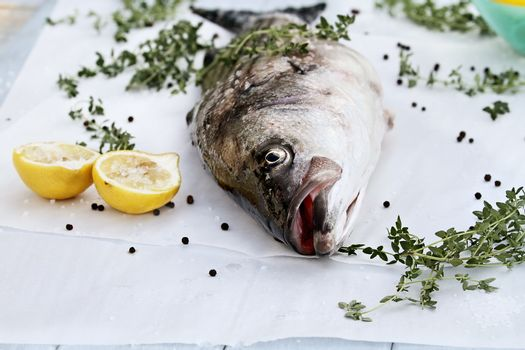 Striped Bass and Ingredients