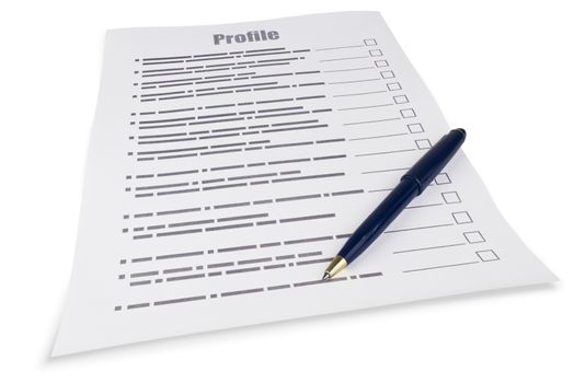 Filling in the questionnaire