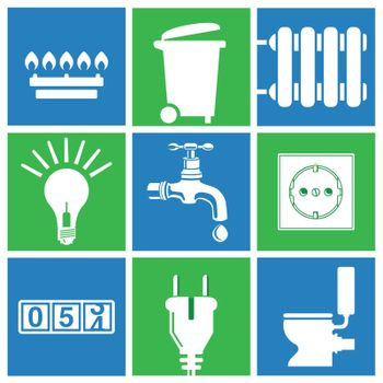 Water, electricity, gas, utilities, household waste disposal