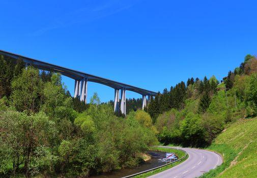 The famous bridge in the Lavant Valley, Austria