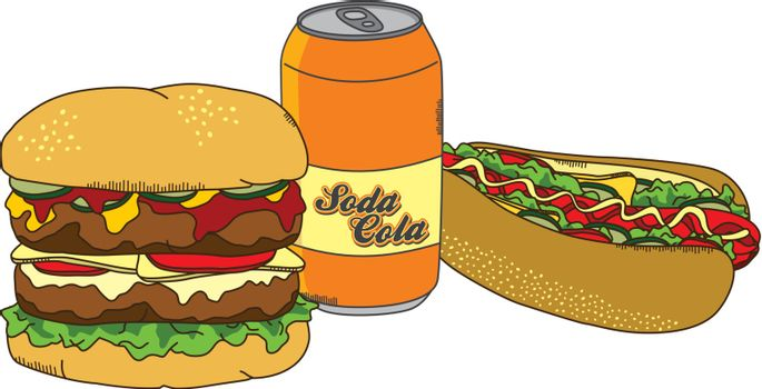 editable food and drink theme vector graphic art design illustration