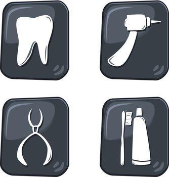 editable dental icon vector graphic art design illustration