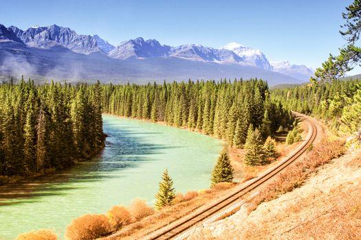 River and railroad