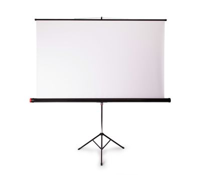 Blank projection screen with copy-space
