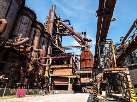 Blast furnace in steel factory