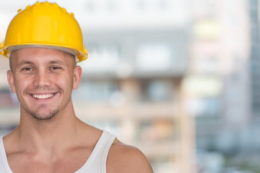 Portrait Of The Smiling Professional Handyman