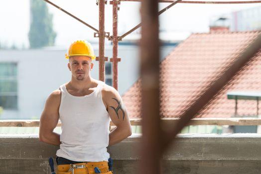 Portrait Of Handsome Worker