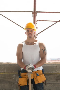 Construction Worker Taking A Break On The Job