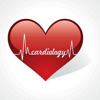 heartbeat make cardiology word in heart stock