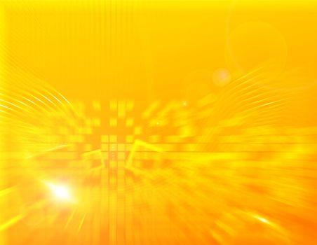 Yellow hi tech wallpaper