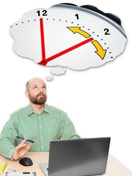 business man daylight saving time