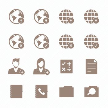 Mobile phone icons network set.