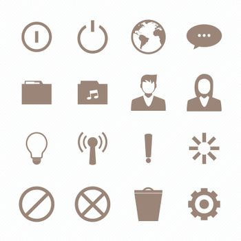 Mobile phone icons connection set