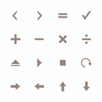 Brown collection calculator and computer icons