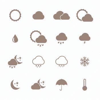 Icon set of weather