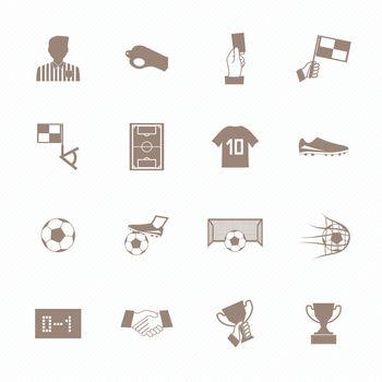 Soccer football icons