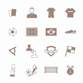 Soccer football icons set