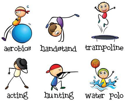 Different recreational activities