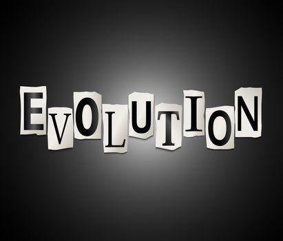 Evolution concept.