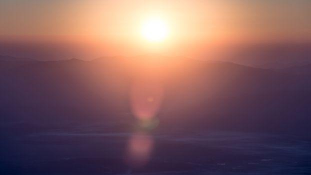 Sunrise view point , doi angkhang , chiangmai , thailand