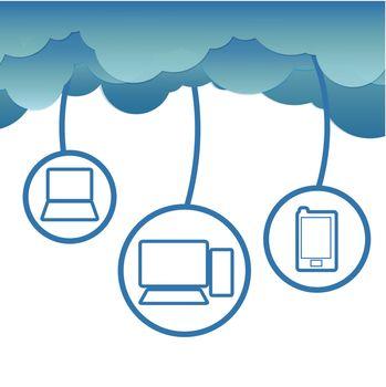 Cloud computing concept.Vector EPS 10