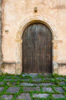 Beautiful antique door in a rural vilage of Spain