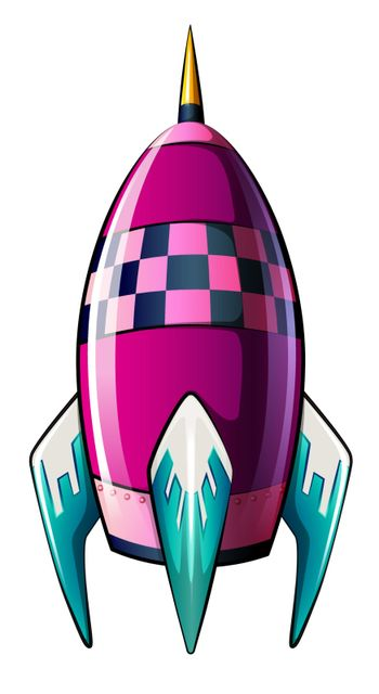 A rocket with a pointed tip