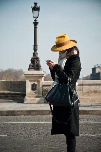 woman with yellow hat