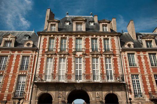 Building place of Vosges in Paris