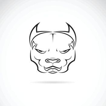 Vector image of a dog pitbull head