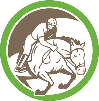 Equestrian Show Jumping Circle Retro