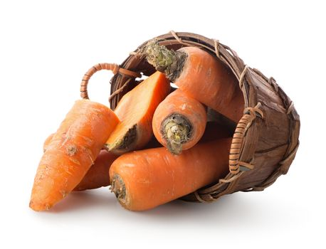 Carrot in a basket