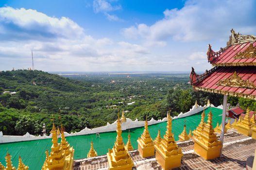 Mandalay Hill is a major pilgrimage site in Myanmar