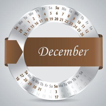 2015 december calendar design