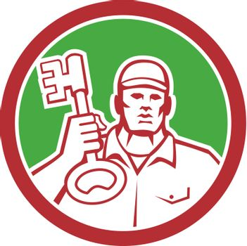Locksmith Carry Key Circle Retro