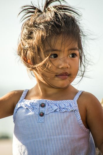 Young Pacific Islander girl