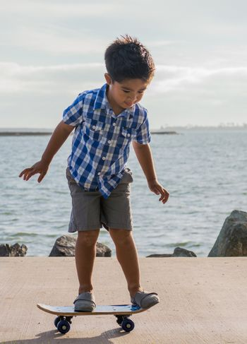 Young Boy on a Scate Board