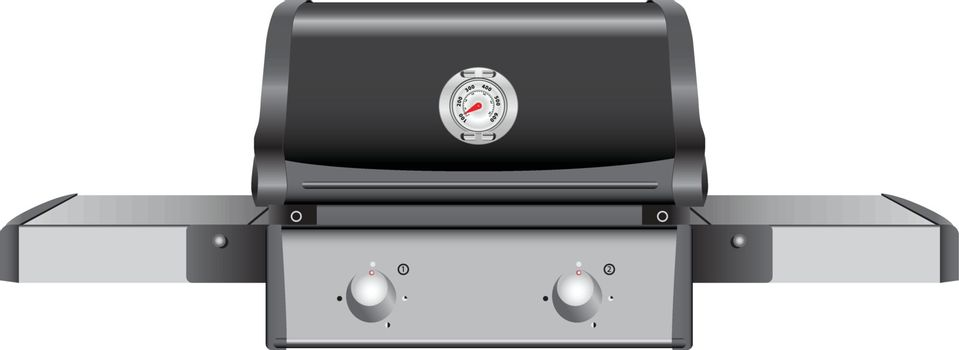 Table grill with temperature indicator