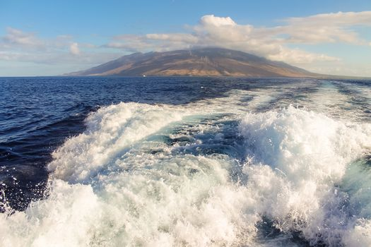 The island of Maui from the ocean