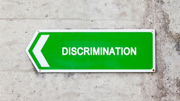 Green sign - Discrimination
