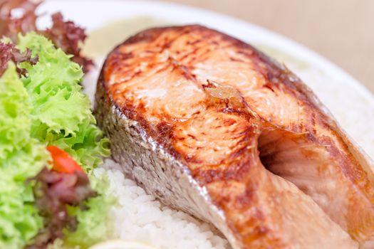 Tasty grilled salmon