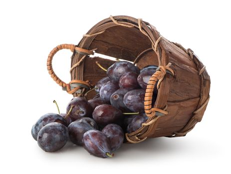 Plums in a basket