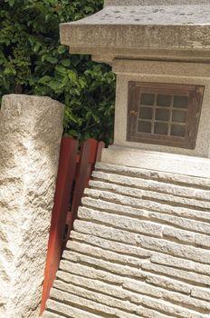 fragment of stone lantern from Japanese zen garden