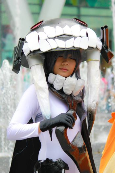 Bangkok - Aug 31: An unidentified Japanese anime cosplay Kubo Wo Kyu pose  on August 31, 2014 at Central World, Bangkok, Thailand.